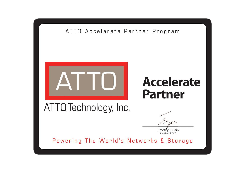 Сертификат партнера ATTO
