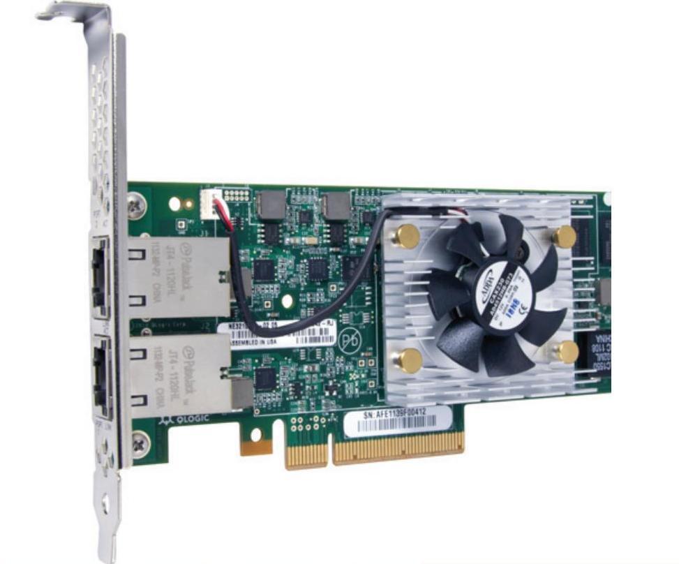 Контроллер Qlogic QLE3242-RJ-CK 10GBase-T Dual Port Intelligent Ethernet Adapter, x8 PCIe, RJ-45 con