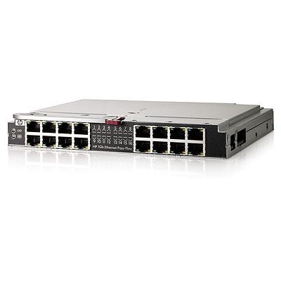 Модуль расширения HP BladeSystem cClass 1GB Ethernet Pass Thru Module (16 RJ45 external ports)