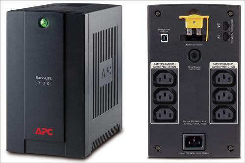 BX700UI Источник бесперебойного питания мощностью 700ва/390вт для персональных компьюте APC Back-UPS