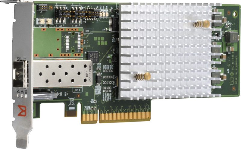 Контроллер Qlogic QLE10542-C-CK 8Gbps Fibre Channel to PCIe, LC multi-mode optic + 400GB PCIe Daughter Card