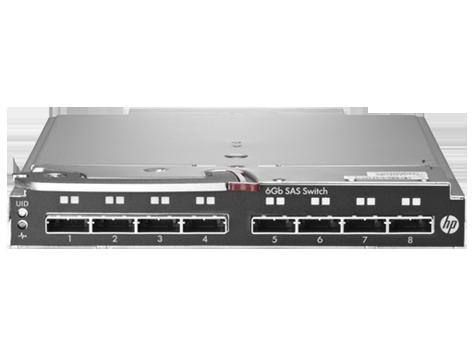 Коммутатор HP StorageWorks 6Gb SAS Blade Switch to communicate with P2000sa (8 external SFF8088 ports) Single switch