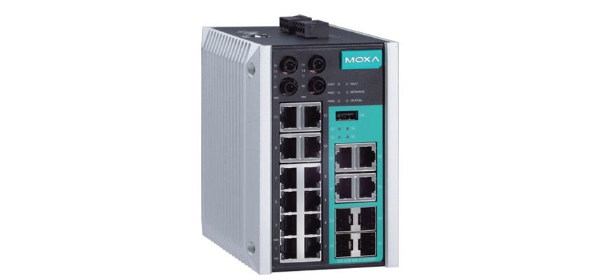 MOXA EDS-518E-MM-ST-4GTXSFP-T
