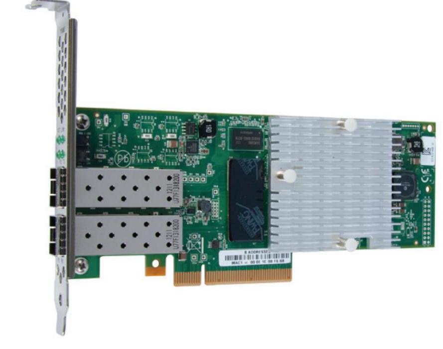 Контроллер Qlogic QLE3242-SR-CK 10Gb Dual Port Intelligent Ethernet Adapter, x8 PCIe, LC multi-mode optic