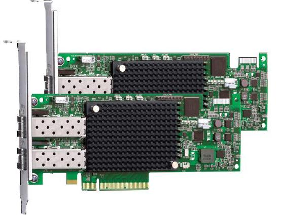 Сетевой адаптер Lenovo ThinkServer LPe16002B-M8-L PCIe 8Gb 2 Port Fibre Channel Adapter by Emulex, 4XB0F28704