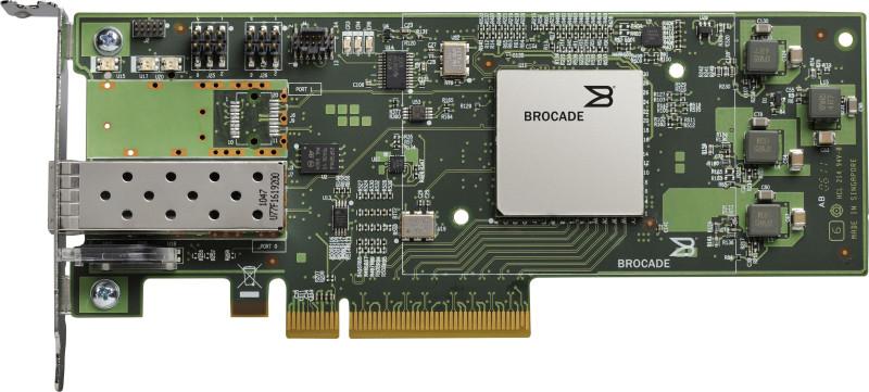 Контроллер Qlogic BR-1860-1F00 16Gb Single Port FC HBA, PCIe x8, SWL optics