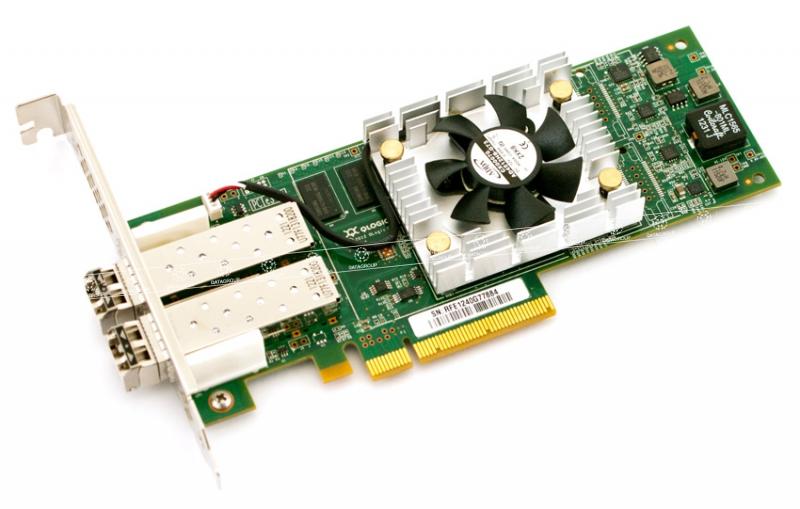Контроллер Qlogic QLE8362-SR-CK 10Gb Dual Port FCoE & iSCSI CNA, x8 PCIe, LC multi-mode optic
