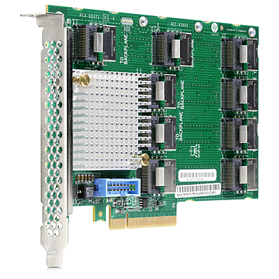 Контроллер HP 12Gb SAS Expander Card SFF (9P mSAS(SFF8087) 2P to controllers, 7P to drive cage, full