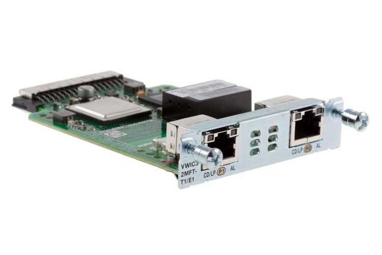 Модуль VWIC3-2MFT-T1/E1= 2-Port 3rd Gen Multiflex Trunk Voice/WAN Int. Card - T1/E1