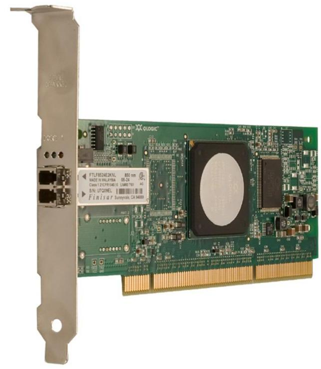 Контроллер Qlogic QLE2440-CK 4Gbps Fibre Channel to PCI Express HBA, Single Port, Optic