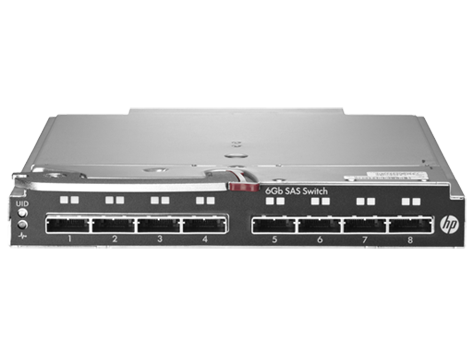 Коммутатор HP StorageWorks 6Gb SAS Blade Switch to communicate with P2000sa (8 external SFF8088 ports)(incl. 2 switches)