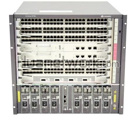 Коммутатор Huawei S7706 Basic Engine POE Bundle(Including PoE Assembly Chassis, SRUA Main Board*1,800W AC Power*2,2200W AC Power*1,