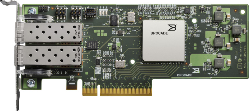 Контроллер Qlogic BR-1860-2P00 10Gb Dual Port FCoE CNA, x8 PCIe, SR optics