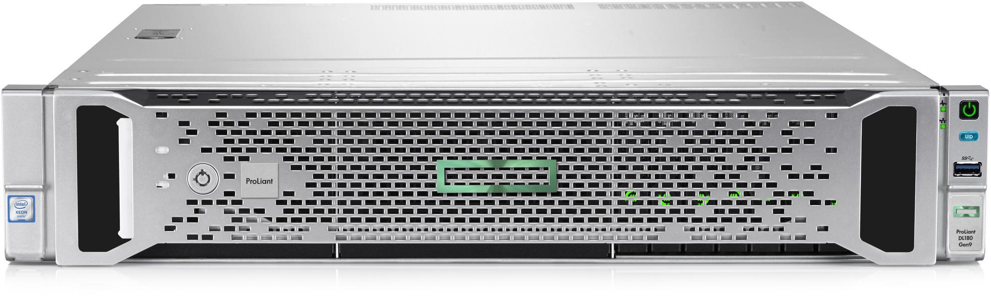 Сервер Proliant DL180 Gen9 E5-2609v4 Hot Plug Rack(2U)/Xeon8C 1.7GHz(20Mb)/1x8GbR1D_2400/H240(ZM/RAI